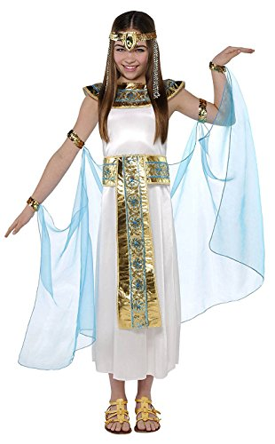 AMSCAN Shimmer Cleopatra Halloween Costume for Girls, Large with Included