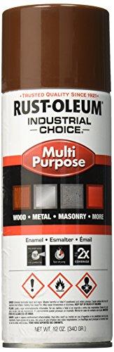 (Rust-Oleum 1674830 1600 System Multi-Purpose Enamel Spray Paint, 12-Ounce, Leather Brown)