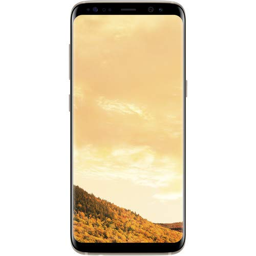 Samsung Galaxy S8 (G950u GSM only) 5.8in 64GB, Unlocked Smartphone for all GSM Carriers - Maple Gold (Renewed)