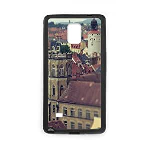 Samsung Galaxy Note 4 Case, old city Case for Samsung Galaxy Note 4 Black
