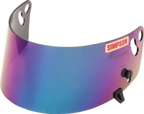 SIMPSON HELMET BLUE IRIDIUM VISOR FOR SA2010 SHARK VUDO @ HELMET WORLD