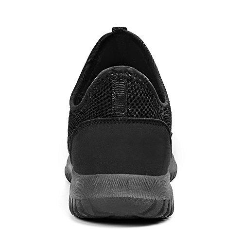 Respirant Femmes Des Hommes Lisse Sur Sport Baskets Course Glissent Noires Casual Zocavia Chaussures De U1Zqz