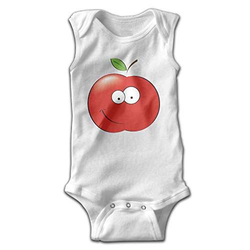 Price comparison product image Newborn Infant Baby Boys Girls Outfits Apple Smile Sleeveless Romper Jumpsuit Playsuit Clothes T-shirt 18 Months White