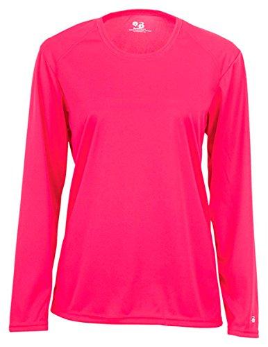 - Badger B-Core Women's Long Sleeve T-Shirt 2XL Hot Pink