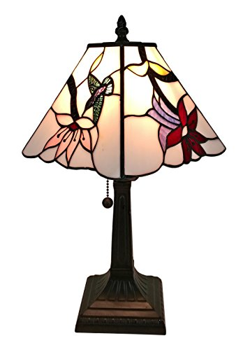 Amora Lighting Tiffany Style AM211TL08 Mission Hummingbird Table Lamp 8 Inches Wide
