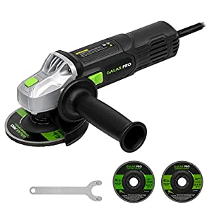 Angle Grinder, GALAX PRO 710W Grinder 4-1/2 Grinding Disc with 2 Abrasive Wheels, Side Handle, Safety Guard & Spanner…