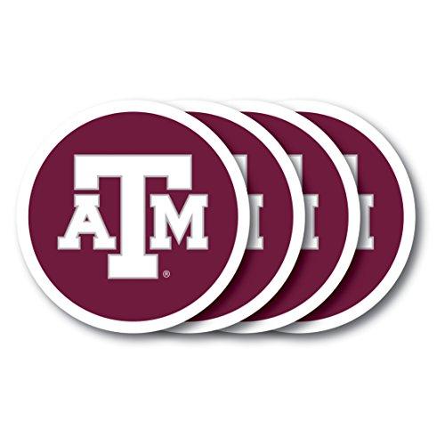 NCAA Texas A & M Aggies Vinyl Coaster Set (Pack of 4)