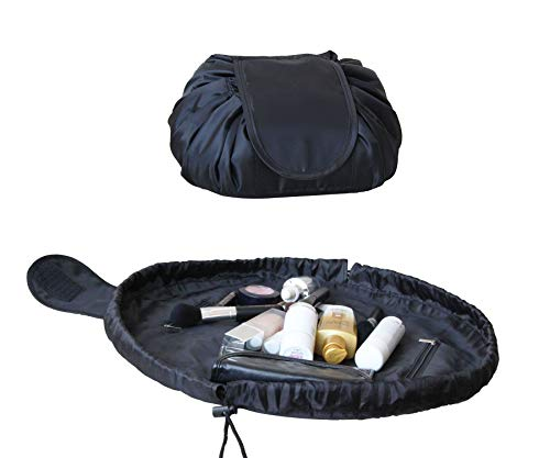 Portable Travel Magic Cosmetic Bag, Casual Large Capacity Lazy Makeup Bag, Toiletry Kit Organizer All-In-One Quick Pack Drawstring Storage Pouch