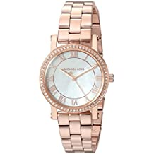 Michael Kors Women's 'Norie' Quartz Stainless Steel Casual Watch, Color:Rose Gold-Toned (Model: MK3558)
