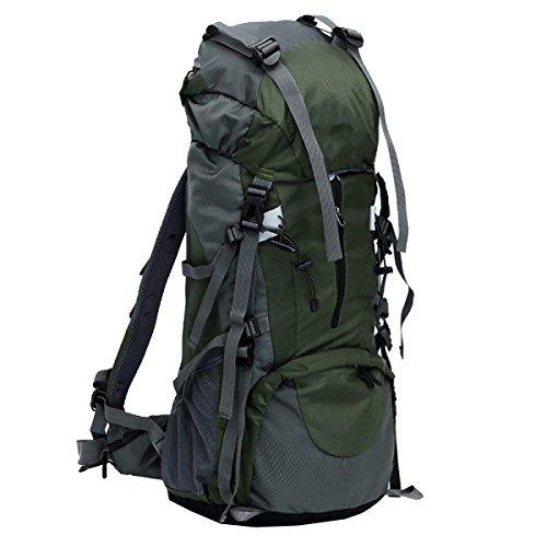 Xin Su Gran Capacidad 65 + 5L Impermeable Nylon Alpinismo Mochila Camping Trekking Viajes Mochila Multi-funcional. Multicolor Blue