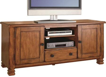 Tv Stands For Flat Screens 55 - Medium Brown Mountain Wood with Storage - Display Your TV in - 32 Screen Flat Inch On Sale Tvs