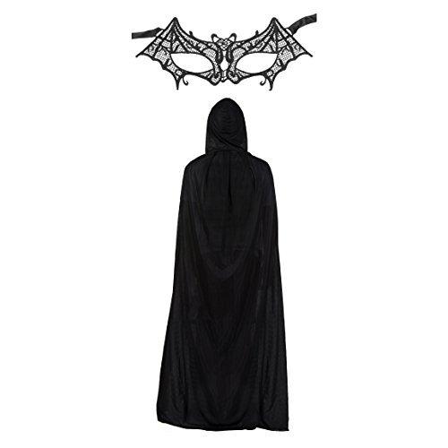 Damen Spitze Batman Batwomen Maske & Umhang Modisches Kostüm-set