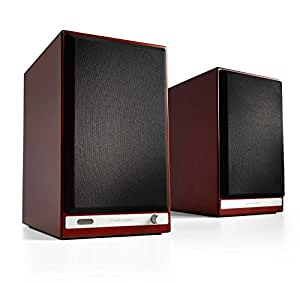 Audioengine HD6 Wireless Bookshelf Speakers. Stream Pandora, Spotify, Tidal or Your Favorite App with aptX HD in High Resolution -Cherry