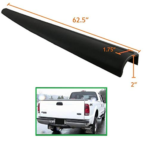 1 Piece of Tailgate Molding Cap Spoiler Top Cover Fit for 1999-2007 Ford F250 F350 F450 Super Duty Models - OE Style + Light Weight + Durable (Black)