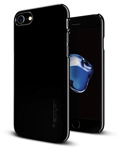 Spigen Thin Fit Designed for Apple iPhone 8 Case (2017) / Designed for iPhone 7 Case (2016) - Jet Black (Best Case For Jet Black Iphone)
