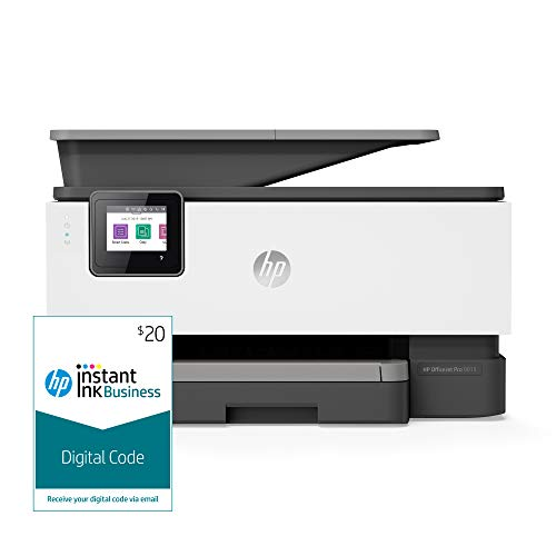 HP OfficeJet Pro 9015 All-in-One Wireless Printer, with Smart Tasks and Instant Ink Business $20 Prepaid Code