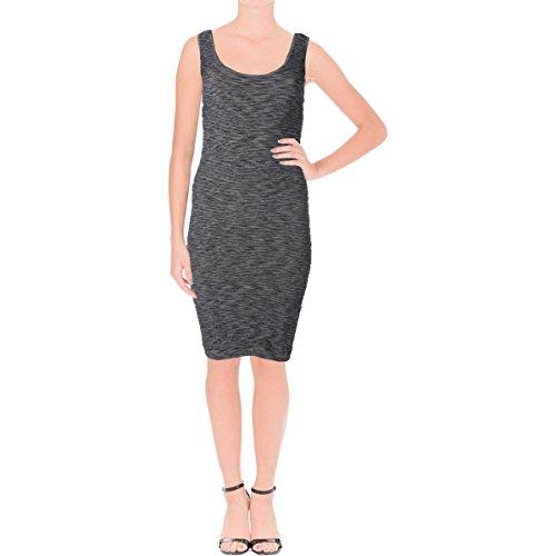 bebe Womens Scoop Neck Sleeveless Cocktail Dress Black S -