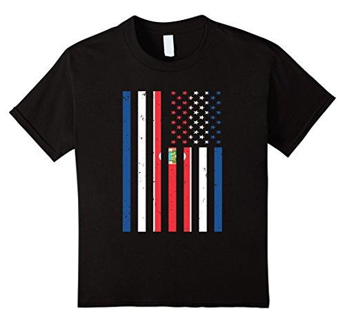 Costa Rica Mexico (Kids Costa Rica USA T-shirt Costa Rica America Flag Men Women Kid 12 Black)