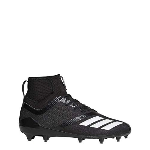 adidas Adizero 5Star 7.0 Mid Cleat Men's Football 9.5 Black-White❗️Ships Directly from