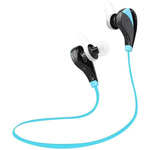Rotibox Athletic Series - Lightweight Bluetooth Headset Headphone - CSR Chip V4.0 - Wireless Stereo Speaker - Premium Sweatproof Secure Fit for Sports In-ear Headphone [Running / Gym / Exercise/ Fitness/jogging ]- Sport Bluetooth Headphones Earbuds Earpho