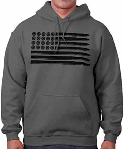 f530dbaca Brisco Brands Bullet Flag Patriotic America 2nd Amendment Hoodie