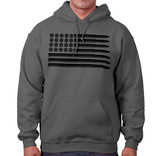 Brisco Brands Bullet Flag USA Shirt | Patriotic 2nd Amendment America Gift Hoodie (Gun Sweatshirt)