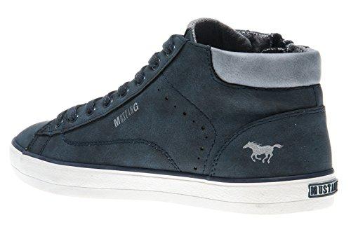 Mustang Ladies 1267-501-555 Alta Sneaker Blu Scuro
