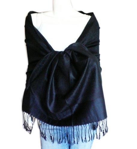 Elegant Paisley Jacquard Pashmina Scarf Wrap Stole - Jacquard Wrap