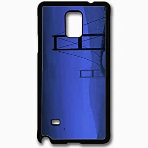Unique Design Fashion Protective Back Cover For Samsung Galaxy Note 4 Case Blue Bridge River Black