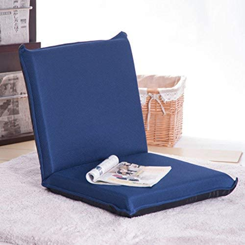 Floor Sofa Bed Foldable Sleeper Chair Padded Gaming Chair for Kids Comfortable Back Support for Reading Games Meditating Blue