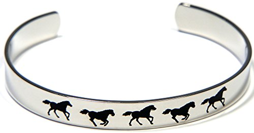 Joyful Sentiments Running Horse Cuff Bracelet
