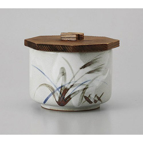 [mkd-529-21-34e] Ikko Mashiko Suzuki lidded rice vessel [11.8 x 9.3 cm] Ryokyu Ryokan Japanese-style restaurant For business ()