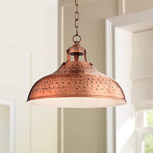 baf5ad7c9ed Essex 16  Wide Dyed Copper Metal Pendant Light