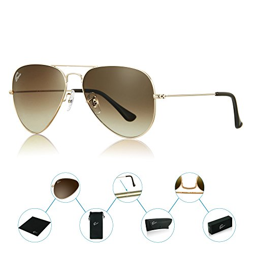 ESPIRO Premium Aviator Sunglasses For Men Women Gradient Lens UV400 Protection