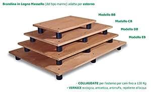 Accesorios para animales cama supletoria de madera Masello Marino–Modello para gran danés y similares