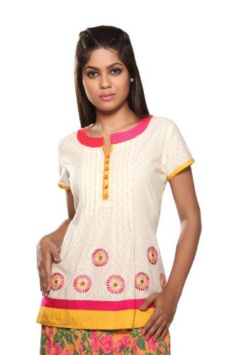 Women's Indian Topwear Pink Large by Akkriti