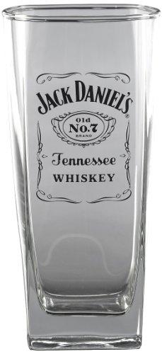 Jack Daniel's Licensed Barware Label Logo Tall Rocks - Daniels Glasses Jack