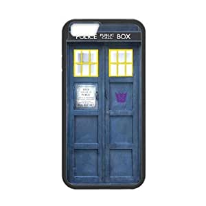Super Classic Blue Police Call Box Pattern Plastic and TPU Case Cover for iPhone 6 - 4.7 Inch (Laser Technology)