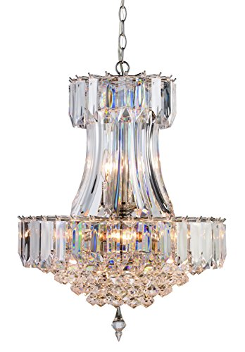 Trans Globe Lighting Hanging Beveled Lattice Fall Pendant Light, Polished -