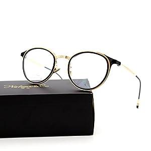 Natwve&Co Stainless Designer Optical Frame Glasses for women man Round Shape(9251) (Black with Gold)