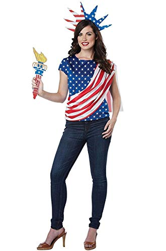 California Costumes Women's Miss Independence Costume, red/blue/white,