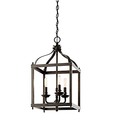 Kichler Lighting 42566OZ Larkin 3 Light Foyer Pendant,Olde Bronze