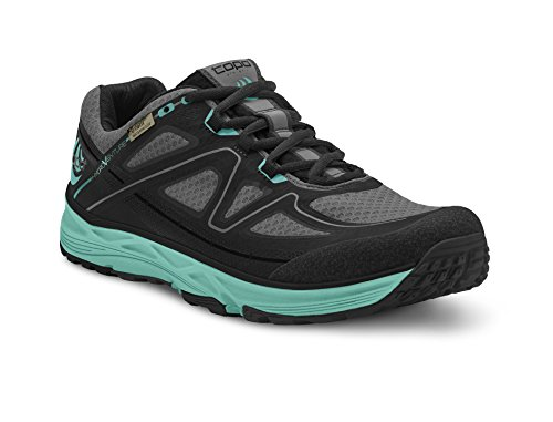Topo Athletic Hydroventure Trail Running Shoe - Women's Black/Turquoise - Waterproof Shoe Running Trail