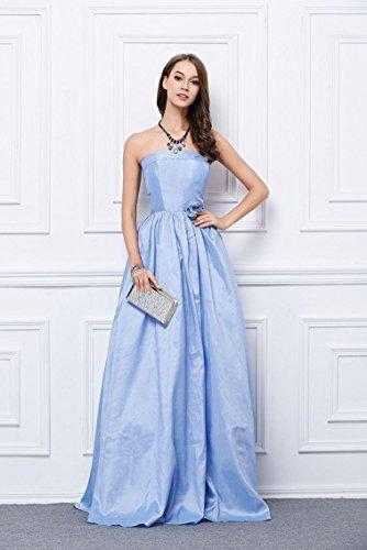Beauty-Emily -  Vestito  - Senza spalline  - Donna blu 44