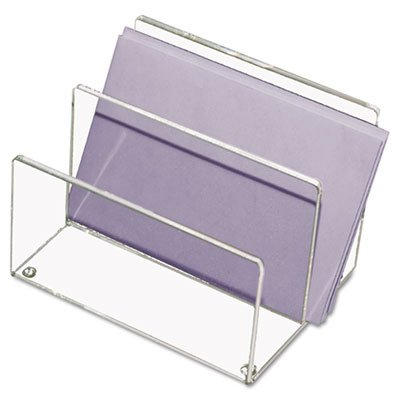 - Mini Sorter, Two Sections, Acrylic, 4 1/8w x 6 1/4d x 4h, Clear, Sold as 1 Each