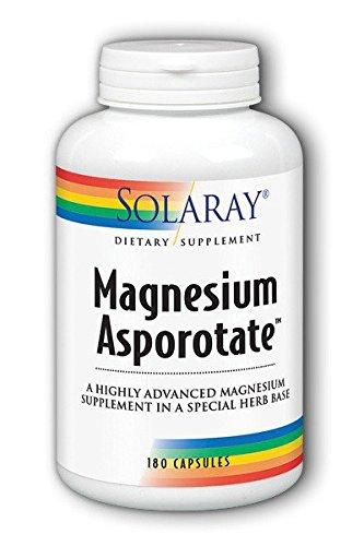 Solaray Magnesium Asporotate Supplement, 180 Count (Magnesium Aspartate)