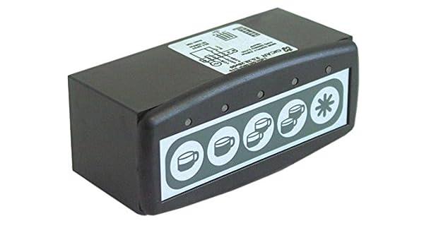 Expobar GR NKP S10 - Unidad de teclado para cafetera Markus (5 teclas, ancho de 45 mm, 117 mm), color negro: Amazon.es: Industria, empresas y ciencia