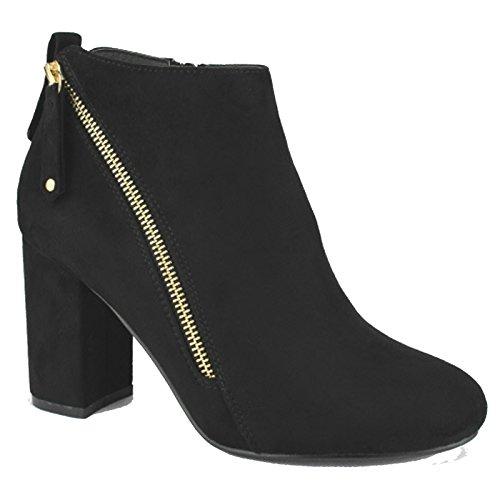 Black Booties FF47 Women's Breeze Nature Suede Block Heel Ankle vwqPBWU0x