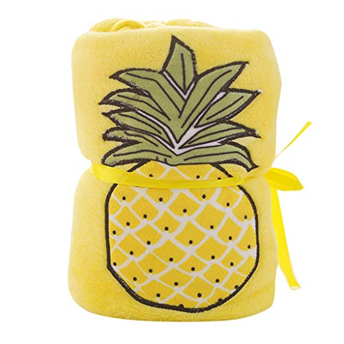 (Newkelly Soft Children's Blanket Warm Blanket Flannel Fashion Fruit Printing 100x80cm)