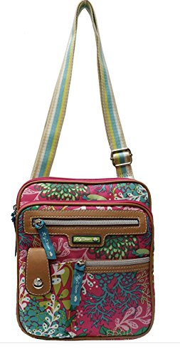 Lilly Bloom Floral Reef-Pink Gigi Mini Crossbody Bag -  Lily Bloom